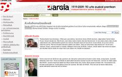 ARGIA: 90 urte euskal prentsan