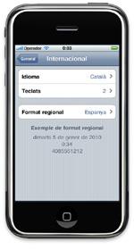 Katalana, iPhone eta iPad-eko hizkuntza ofiziala