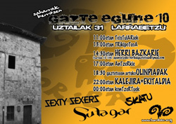 Gazte Egunaren 26. edizioa bihar Larrabetzun