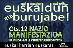 EHEk Txillardegi omenduko du otsailaren 12rako deitu duen manifestazioan