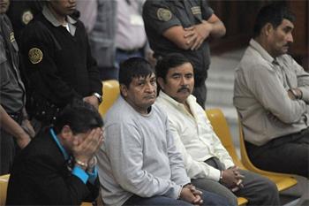 Lau militar zigortu dituzte Guatemalan gerra zibiliean 201 indigena hiltzeagatik