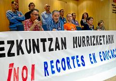 Murrizketen aurkako manifestazioa egingo dute Nafarroako ikastetxe publikoek urriaren 22an