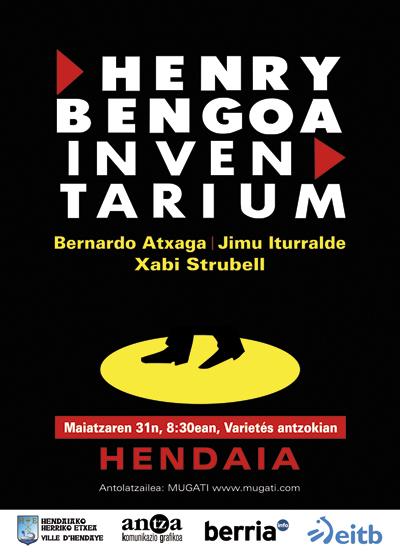 Henry Bengoa Inventarium ikuskizun poetikoa izango da gaur Hendaian