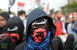 'Bloke Beltzak' borrokarako deia egin du Egipton