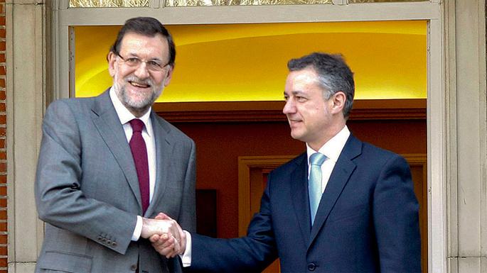 Urkullu eta Rajoy isilean bildu ziren joan den asteazkenean