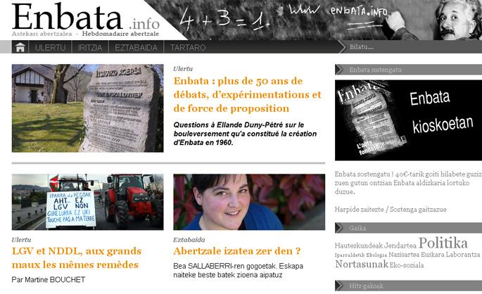 'Enbata' aldizkariak webgunea abiarazi du