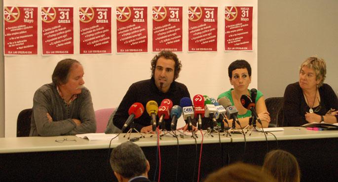 Greba orokorra deitu du gehiengo sindikalak Hego Euskal Herrian