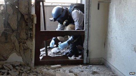 Sirian gas kimikoa erabili zela berretsi du Ban Ki-moonek