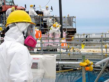 Berriz ere euri ura lur azpian biltzen hasi dira Fukushiman