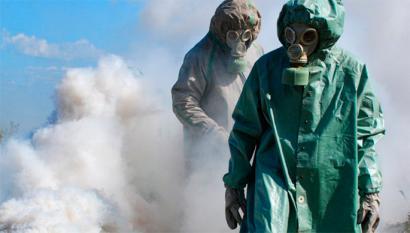 Arma kimikoak egiteko azpiegitura suntsitu du Siriak
