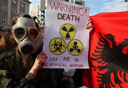 Siriako arma kimikoak itsasoan erraustuz suntsitu ditzakete