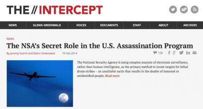 The Intercept, Washingtongo sekretuak jasoko dituen atari berria