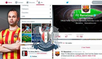 F.C. Bartzelonaren Twitterra hackeatuta
