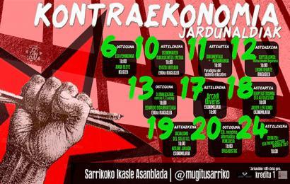 Kontraekonomia jardunaldiak Sarrikon, pentsamendu hegemonikoa gainditzeko