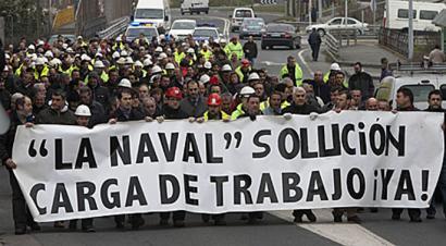 La Navaleko enpresa batzordeak itxialdia egin du lan-karga eskatzeko