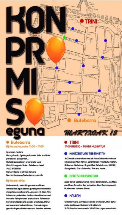 Konpromiso Eguna larunbatean Donostian epaiketa politikoen aurka