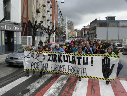 Arrazakeriaren aurkako mobilizazioak Donostia, Bilbo eta Gasteizen