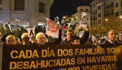 Etxegabetzeen aurkako legea babestu du berriz Nafarroako Parlamentuak