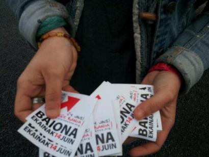 Ekaineko konponbidearen aldeko Baionako manifestazioa bultzatzeko kanpaina abian