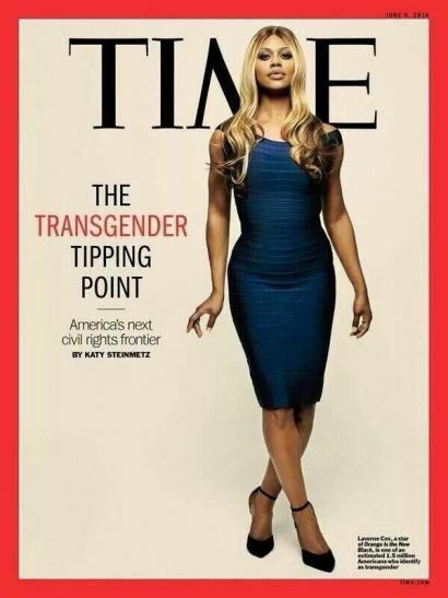 'Time' aldizkariak azala eman dio emakume transgenero aktore ezagun bati