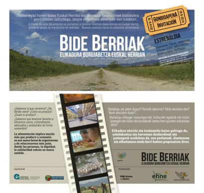 Euskal Herriko elikadura burujabetzari buruzko dokumentala Bilbon estreinatuko da