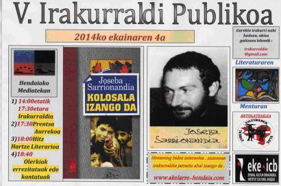 Joseba Sarrionandia ardatz, Hendaiako V. irakurraldi publikoan