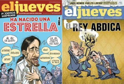 El Jueves aldizkariak Espainiako Erregeari buruzko azala zentsuratu du