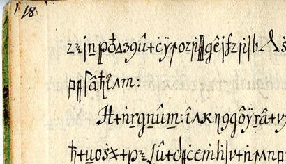 �Copiale Cipher�: masoien eskuliburu ezkutua
