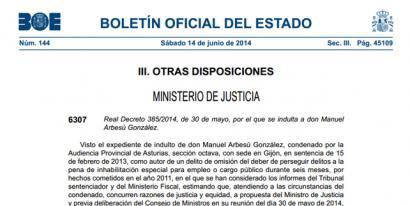 Sexu eraso bat barrez grabatu zuen Guardia Zibila indultatu du Espainiako Gobernuak