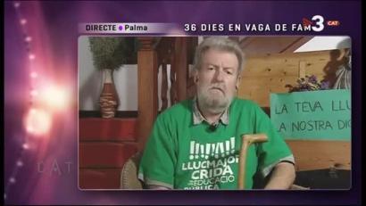 Jaume Sastrek 40 egun gose greban daramatza katalanezko hezkuntzaren alde