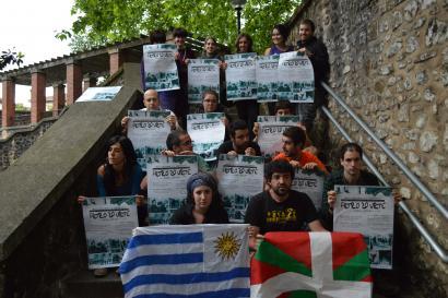 Euskal herritarrak estraditatzearen kontra bizia eman zuten uruguaiarrak omenduko ditu Askapenak
