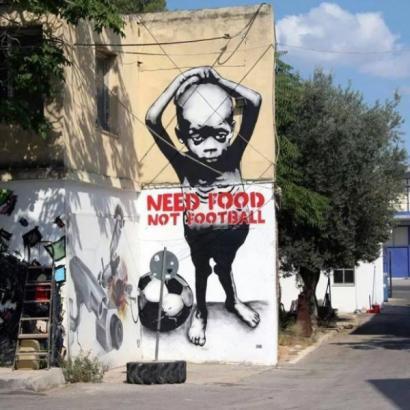 FIFAren aurka Brasilen egin dituzten grafitirik onenak