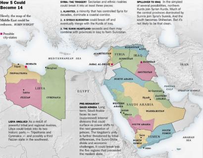 Sirian hasi ote da mamitzen Ekialde Hurbileko mapa berria?