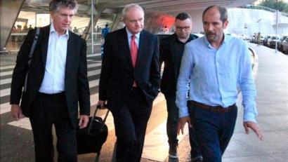 Powell eta McGuinness Euskal Herrian dira, EAJ, Sortu eta PSErekin biltzeko
