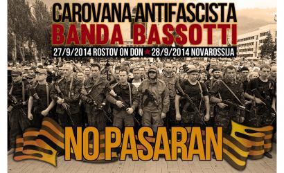 Banda Bassotti taldeak Ukraina ekialdera karabana antifaxista antolatu du