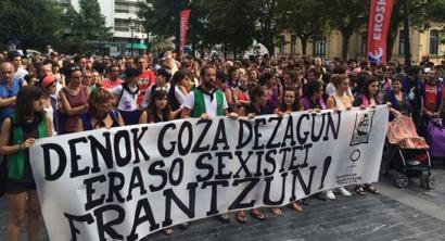 Ehunka herritarrek salatu dute Donostian izandako eraso sexista