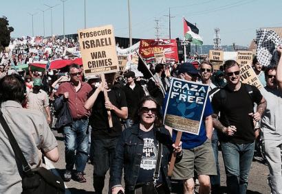 Block the Boat: Israelgo itsasontziak blokeatzea helburu AEBetan Palestinaren alde