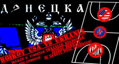 Ukrainako saskibaloi selekzioa boikotatzeko deia egin du EH-Donbas komiteak