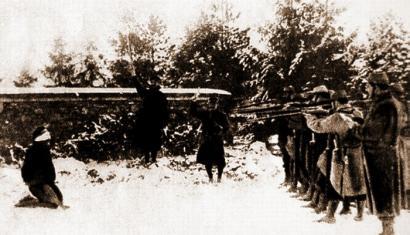 1914: Fusilatua ez izateko adina frantses ez zekien soldatu bretoia