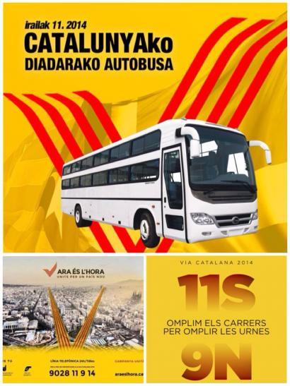 Kataluniako Diadara joateko autobusak antolatu ditu Independentistak sareak