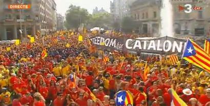 Jendetza Katalunian independentziaren alde