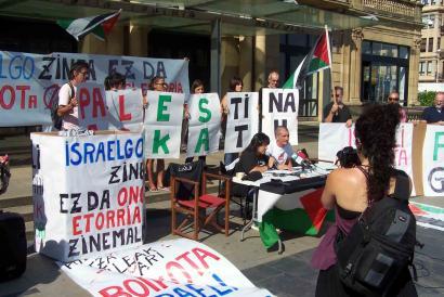 Zinemaldian Israelgo filmeei boikota egiteko deia egin dute Palestinarekiko elkartasunez