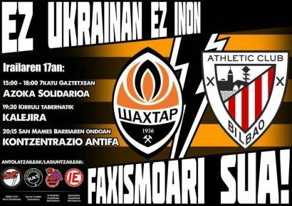 Athletic-Xakhtar: Elkartasun eta borroka eguna deitu du EH-Donbass komiteak