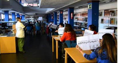 Zerbitzu publiko duinen aldeko protesta egiteagatik 13 gazte epaitegira Portugaleten