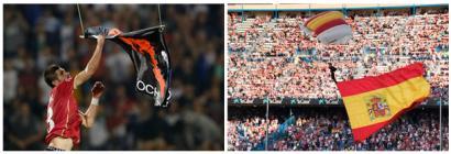 Drone nazionalistak Belgradon eta Madrilen