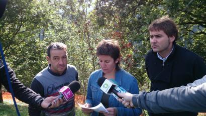 AHTren moratoria eskatu dute Tolosa, Hernialde eta Anoetako alkateek