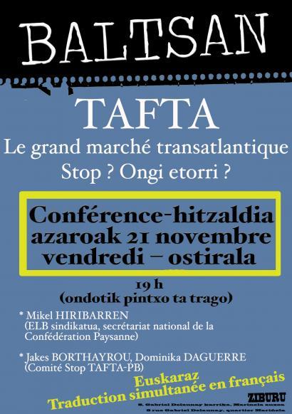 Ziburun: Ongi etorri ala stop TAFTA-TTIP?