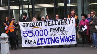 Amazoni Gabonetan boikota egiteko deia, langileentzat soldata duina eskatzeko