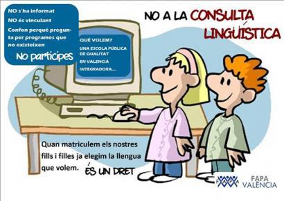 Eskolako hizkuntzari buruzko galdeketa egiteari ezetz esan dio Escola Valencianak