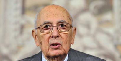 Giorgio Napolitano Italiako presidenteak dimititu egin du